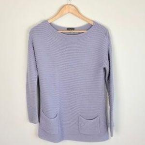 Vince Camuto Knit Lavender Pocket Sweater